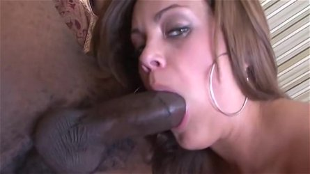 Handsome Katie Cummings in interracial sex scene