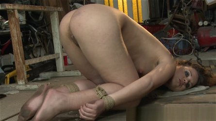 Eurobabe punished and restrained by maledom