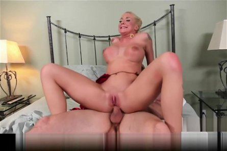 Flexible blonde Leya Falcon has her ass spread wide & fucked