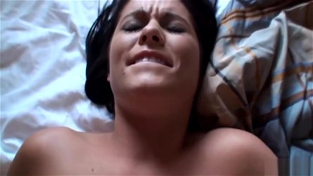 Good-looking dusky youthful whore Chloe Banks in a genuine hard core video