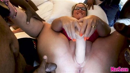 Big Toys Wife Cum Dump for Gang of Guys