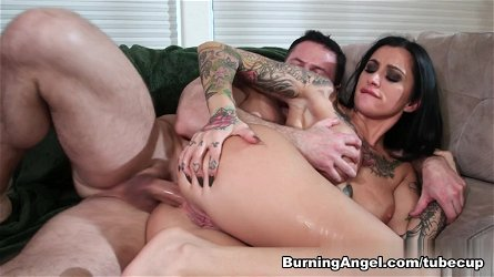 Incredible pornstars Joanna Angel, John Strong, Alby Rydes in Best Emo, Anal porn video
