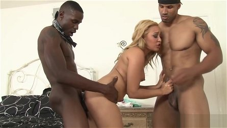 Crazy black guys got stole a naughty MILFs wet thing