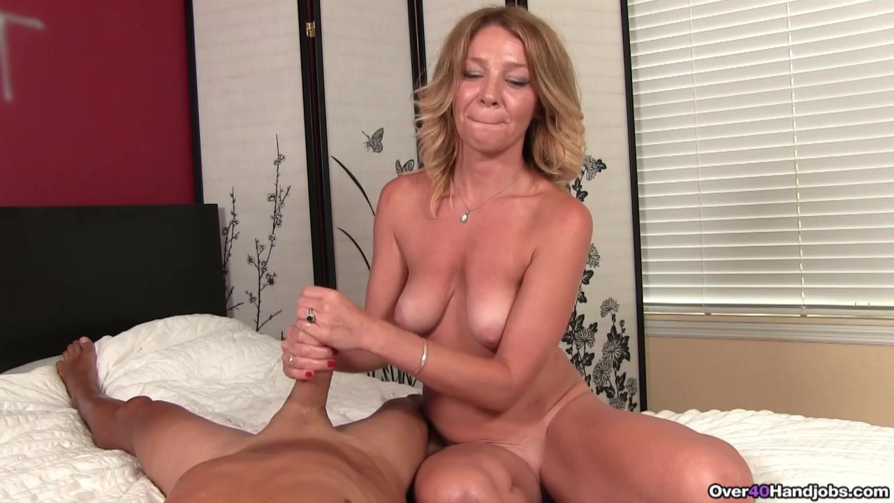 Mature Milf Fingered While Tugging Cock