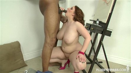Felicia Clover is excited with this black guy