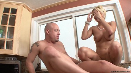 Horny Kodi Gamble rides her pussy on this thick shaft