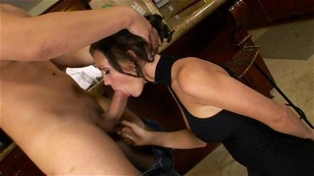 WANKZ- Tiny Brunette Housewife Covered in Cum