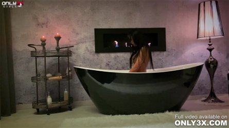 Classy Shalina Devine romantic anal toying at the bathtub by Only3x