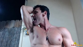 Sexy Eden Adonis Licking and Closing up His Armpits
