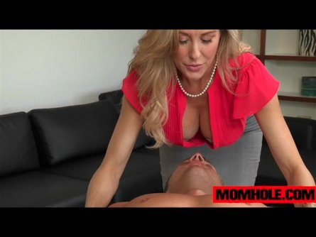 MILF Brandi Love and Taylor Whyte massage guys dick and balls for cum