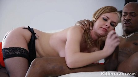 Beautiful Blonde Honey, Summer Rose Got Down And Dirty With A Black Guy And Had A Blast