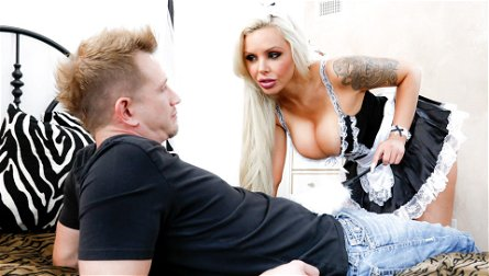 Nina Elle & Bill Bailey in French Anal MILF Maids - Nina Elle, Scene #01 - BurningAngel