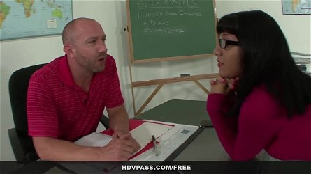 Latina schoolgirl Liv Aguilera sucks and fucks her teacher