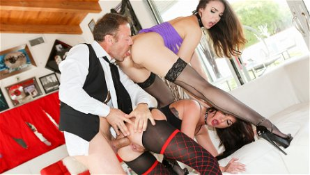 Tiffany Tyler, Cassandra Nix, Rocco Siffredi in Slutty Girls Love Rocco #09, Scene #01