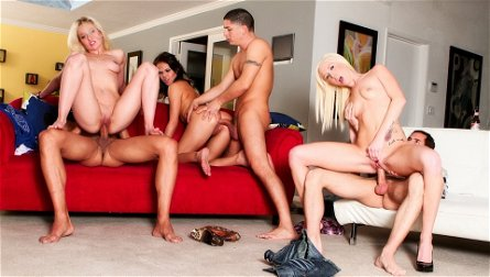 Whitney Grace,Maia Davis,Taylor Russo,Alex Gonz,Joey Brass,Marco Banderas in Neighborhood Swingers #06, Scene #01
