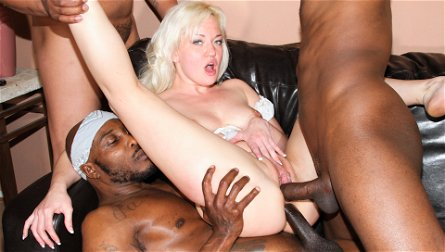 Whitney Grace,Devlin Weed,Wesley Pipes,Jon Jon in GangLand Cream Pie #26, Scene #01