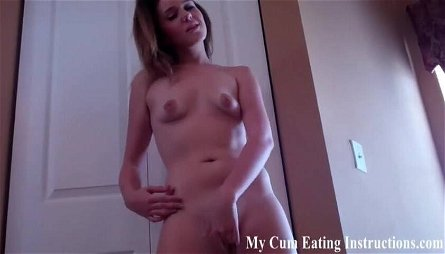 I want to watch you eat your own cum